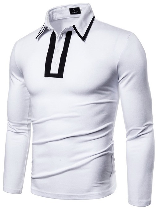Ericdress Patchwork Polo Neck European Men's Polo Shirt