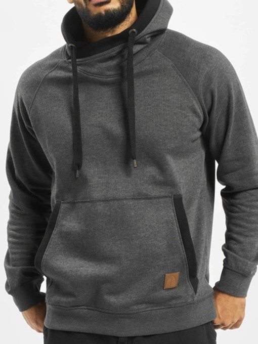 Ericdress Pullover Thick Color Block Casual Men's Hoodies