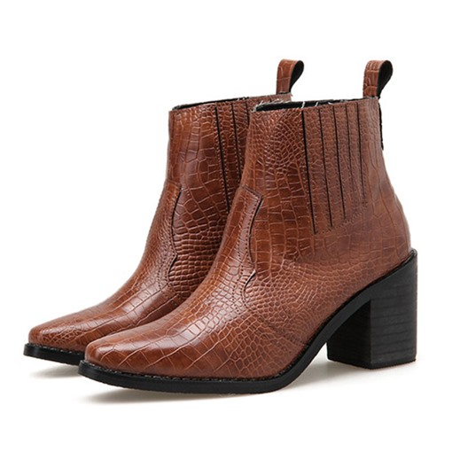 Ericdress Pointed Toe Slip-On Chunky Heel Women's Ankle Boots