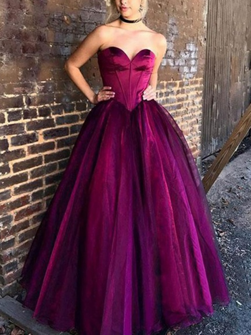 Ericdress Sweetheart Ball Gown Prom Dress 2019