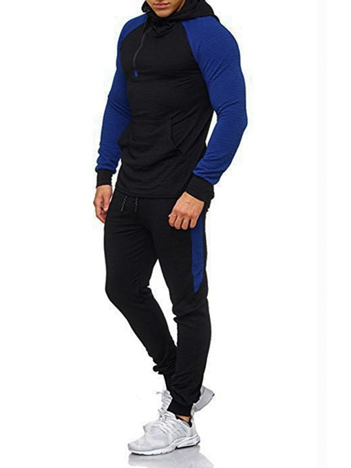 Ericdress Casual Patchwork Color Block Men's Outfit