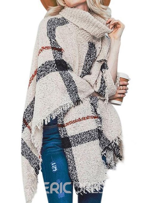 Ericdress Color Block Casual Polyester Fall Cape
