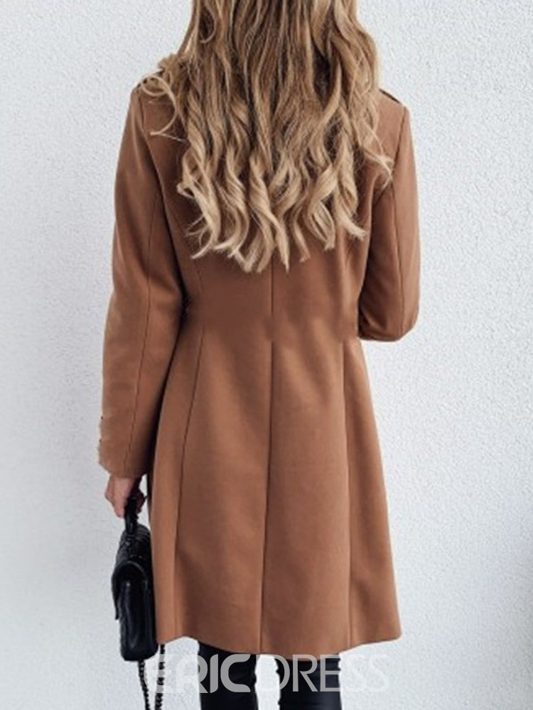 Ericdress Loose Double-Breasted Notched Lapel Fall Overcoat