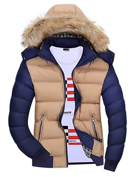 Ericdress Hooded Standard Zipper European Men's Down Jacket