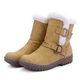 Ericdress Round Toe Hasp Women's Snow Boots