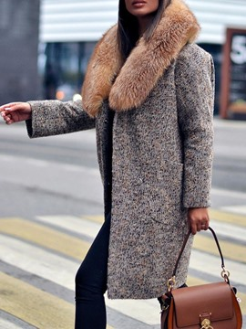 Ericdress Straight Regular Mid-Length Winter Overcoat