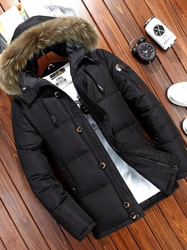 Ericdress Standard Hooded Casual Zipper Men's Down Jacket