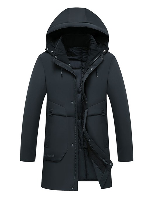 Ericdress Mid-Length Hooded Casual Men's Down Jacket