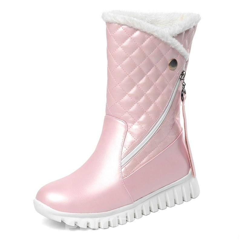 Ericdress Side Zipper Round Toe Plain Zipper Women's Snow Boots