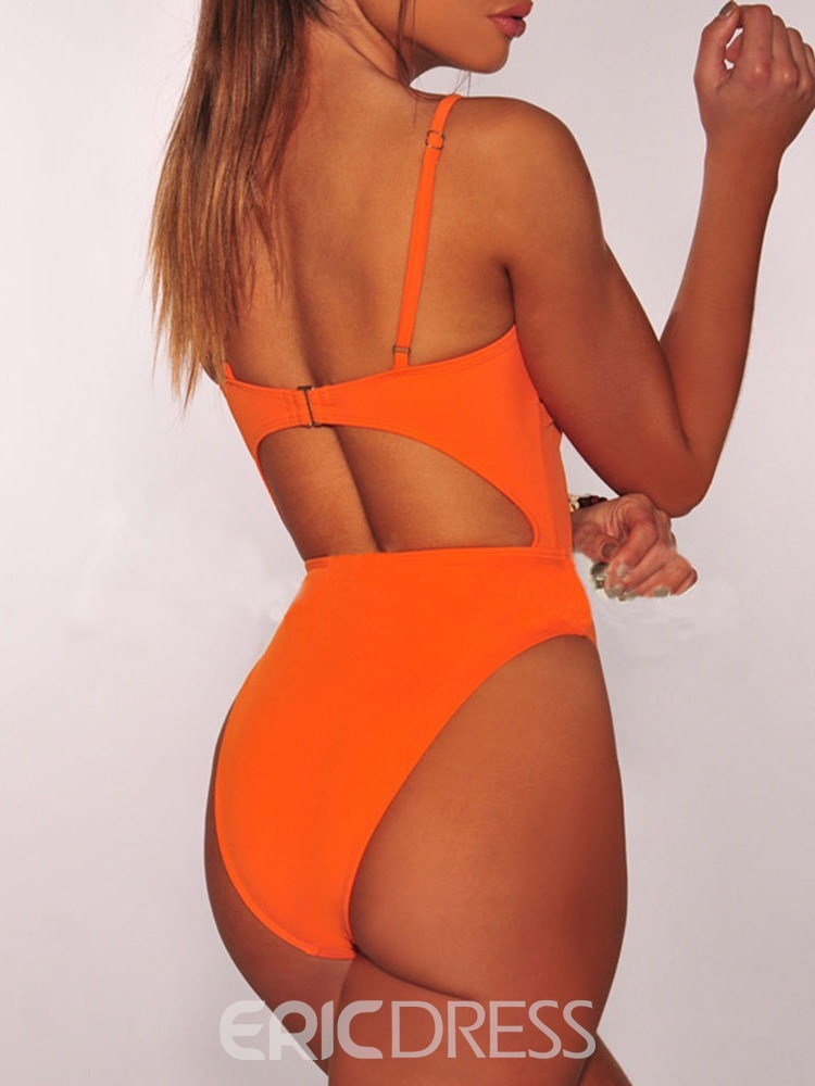 Ericdress Plain Hollow Sexy Swimwear