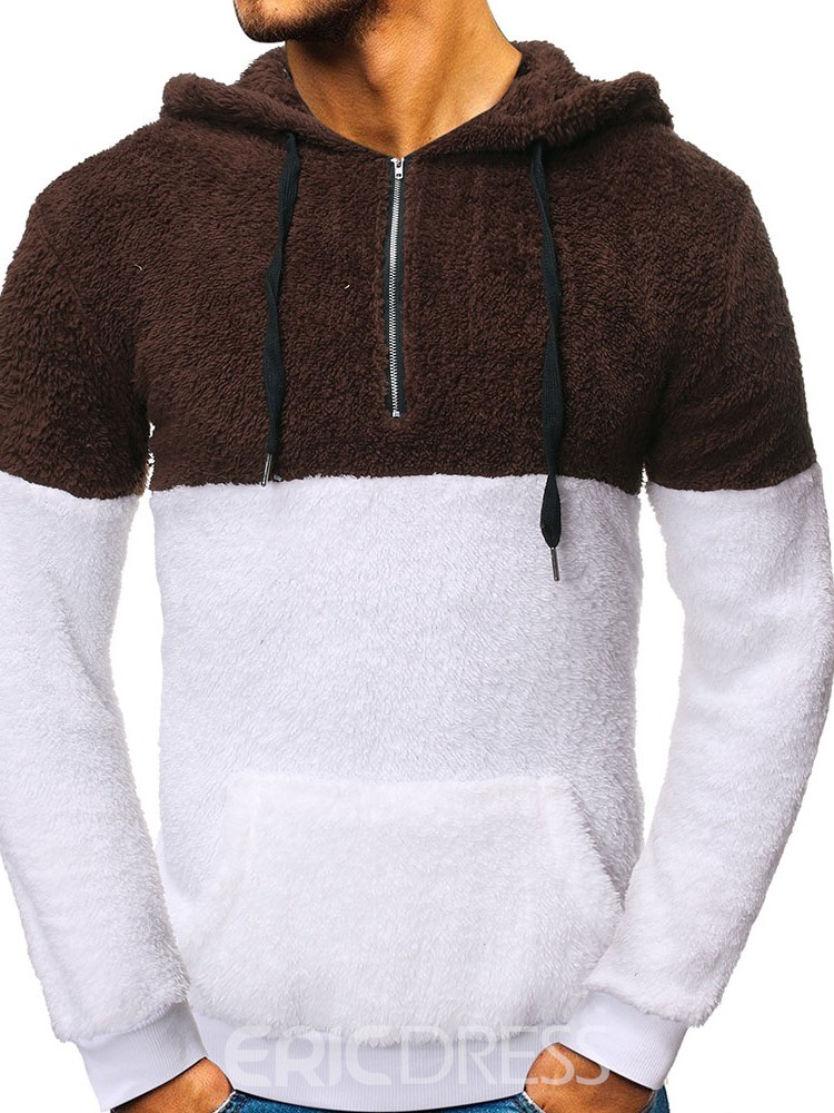 Ericdress Pullover Pocket Fleece Casual Men's Hoodies