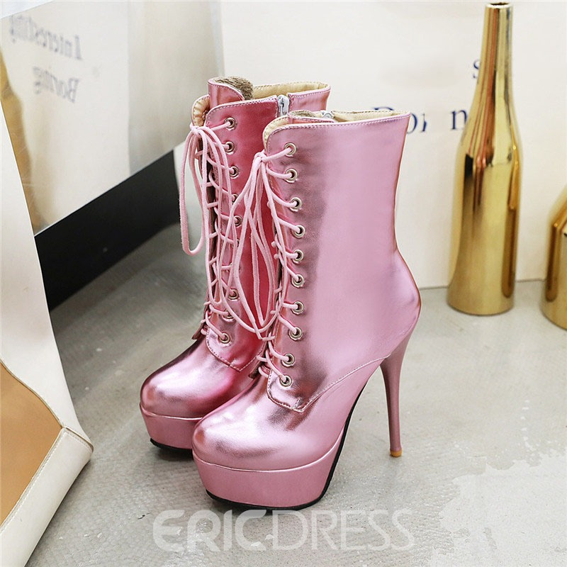 Ericdress Stiletto Heel Plain Side Zipper Women's Ankle Boots