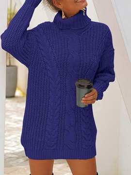 Ericdress Thick Turtleneck Loose Sweater