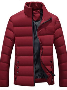 Ericdress Standard Stand Collar Color Block European Zipper Men's Down Jacket