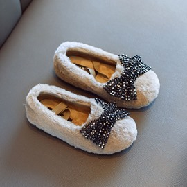Ericdress Bow Round Toe Princess Baby Winter Shoes