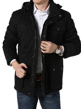 Ericdress Mid-Length Hooded Zipper European Men's Down Jacket