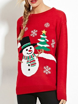 Ericdress Christmas Regular Thin Embroidery Fall Long Sleeve Sweater