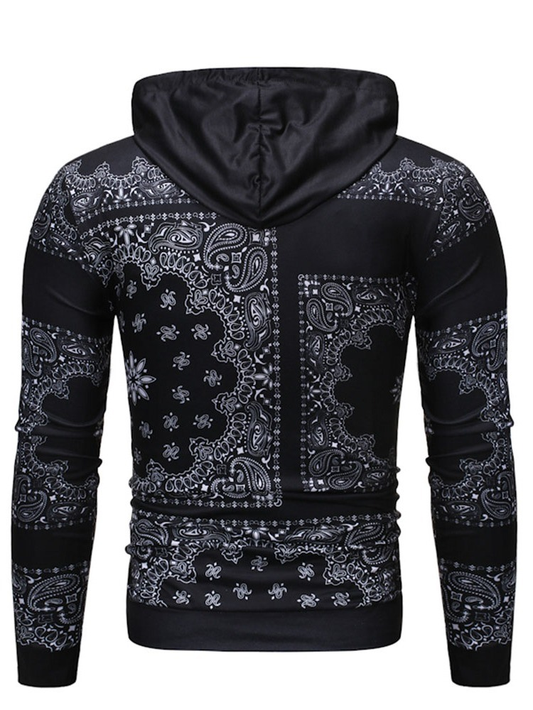 Ericdress Print Color Block Pullover Casual Men's Hoodies