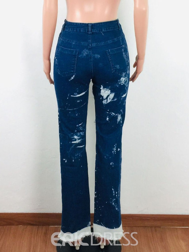 Ericdress Straight Washable Slim Jeans