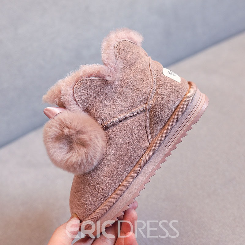 Ericdress Bow Slip-On Baby Snow Boots