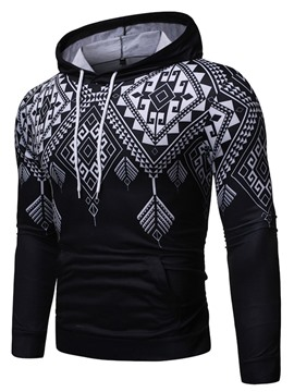 ericdress pull-over de poche de couleur bloc casual hommes hoodies