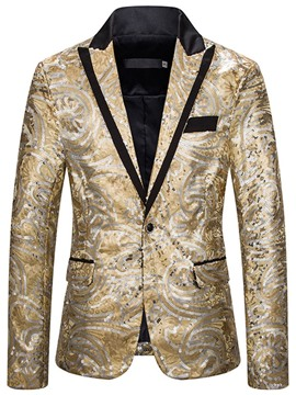 Ericdress Sequins Casual Slim Men's Leisure Blazers