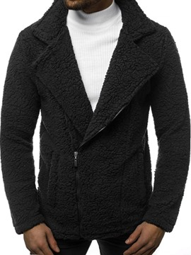 Ericdress Plain Standard Zipper Men's Coat