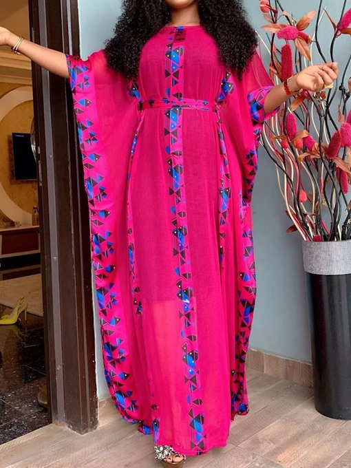 Ericdress Print Ankle-Length Round Neck Spring A-Line Dress