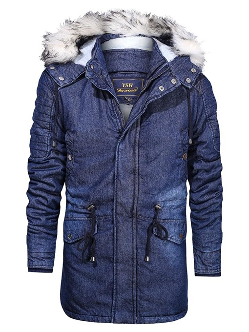 Ericdress Color Block Mid-Length Patchwork Men's Down Jacket
