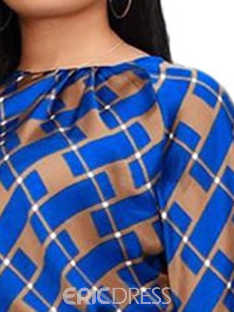 Ericdress Plaid Casual Round Neck Two Piece Sets