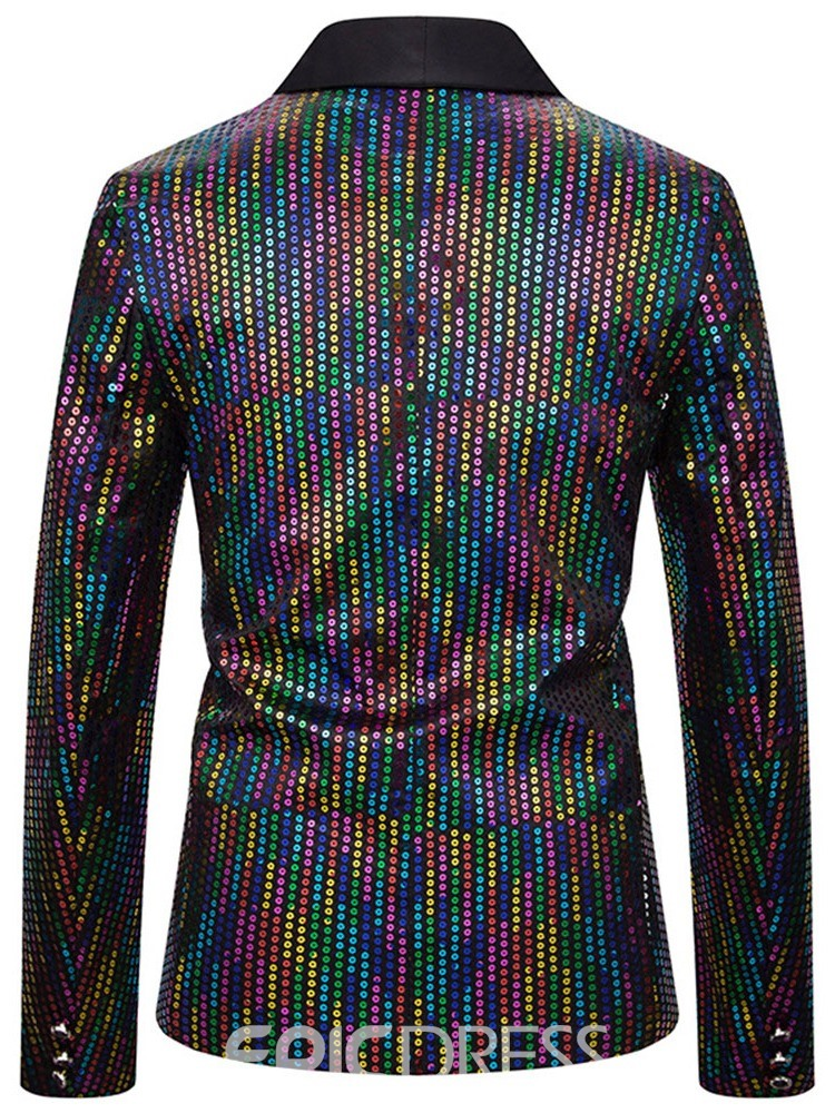 Ericdress Sequins Color Block Casual Men's Leisure Blazers