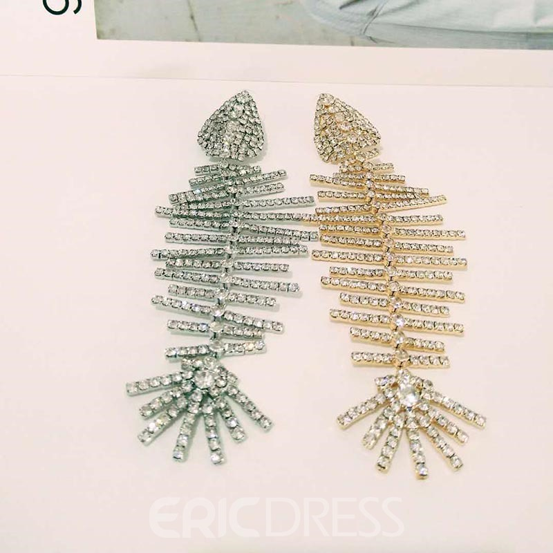 Ericdress Rhinestone Plain Wedding Earrings