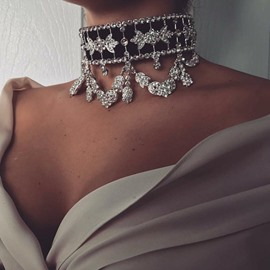ericdress choker necklace diamante weibliche halsketten