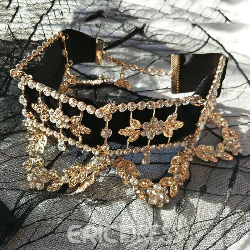 Ericdress Rhinestone Party Choker Necklace