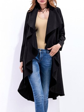 Ericdress Long Casual Slim Women's Trench Coat