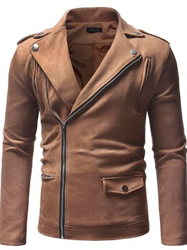 Ericdress Zipper Plain Lapel Men's Jacket