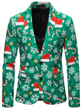 Ericdress Casual Button Single-Breasted Christmas Men's Leisure Blazers