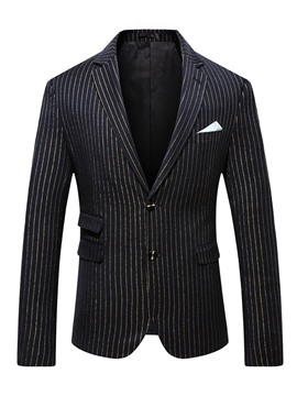 Ericdress Button Casual Notched Lapel Men's Leisure Blazers