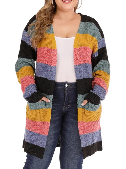 Ericdress Plus Size Mid-Length Loose Women's Sweater