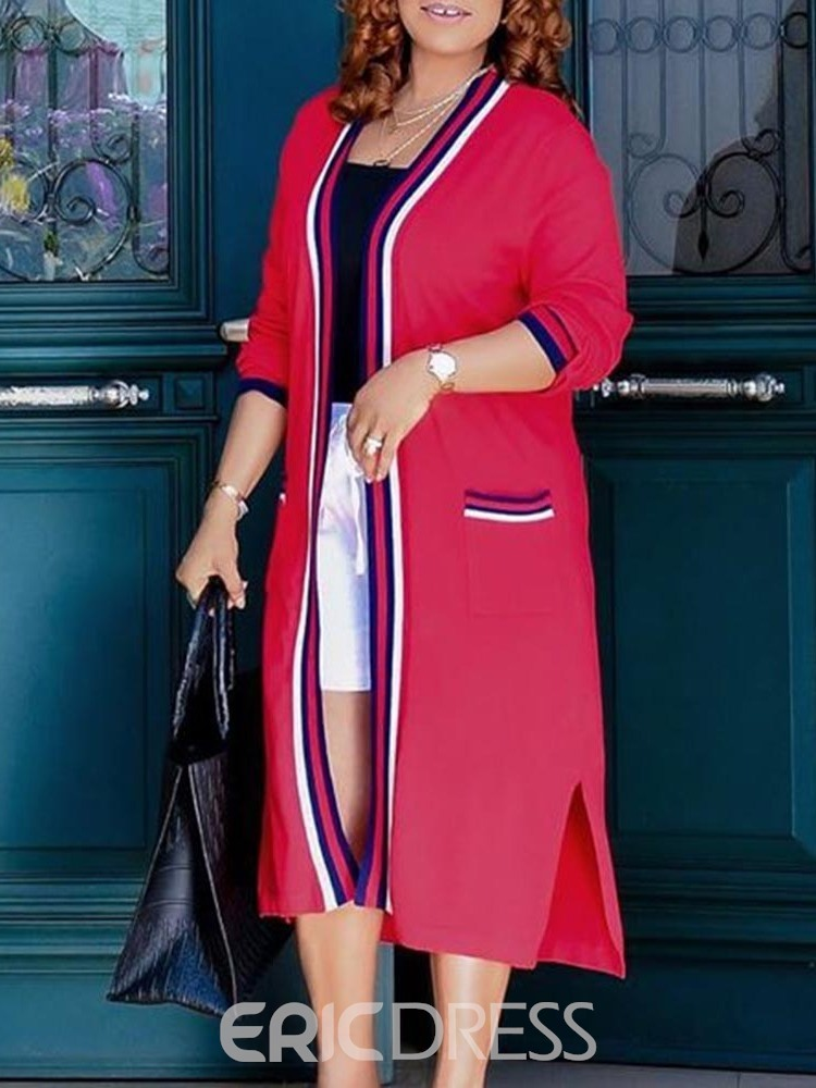 Ericdress Long Straight Casual Women's Trench Coat