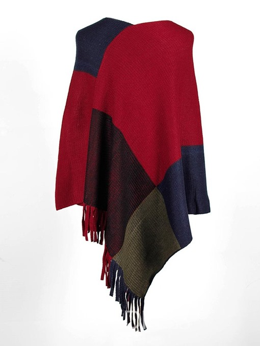 Ericdress Casual Color Block Polyester Women's Cape