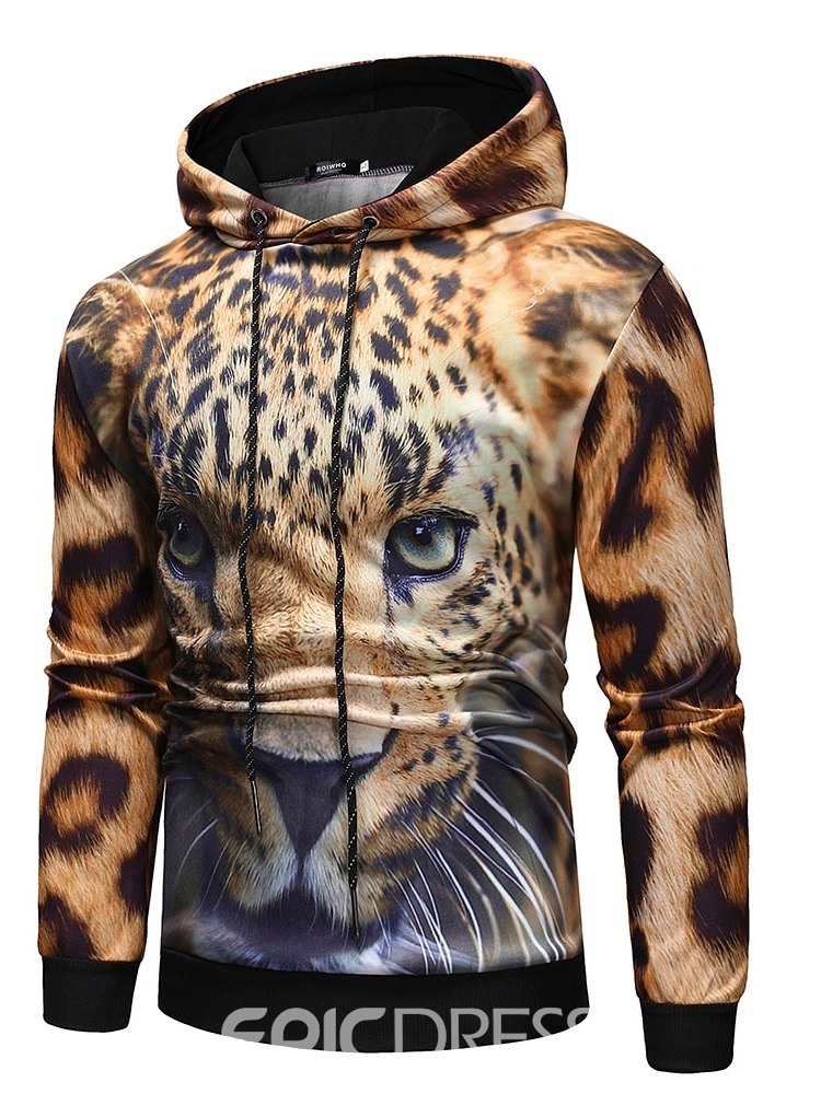 Ericdress Print Fleece Pullover Men's Hoodies