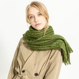 Ericdress Imitation Cashmere Stripe Scarves