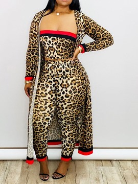 Ericdress Leopard Print Two Piece Sets