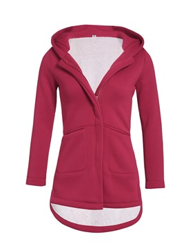 Ericdress Straight Zipper Hooded Mid-Length Women's Overcoat