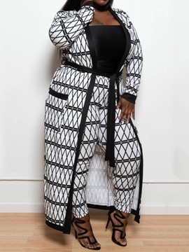 Ericdress Plus Size Geometric Casual Two Piece Sets