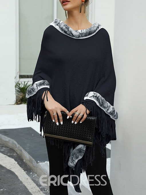 Ericdress Ethnic Color Block Polyester Women's Cape