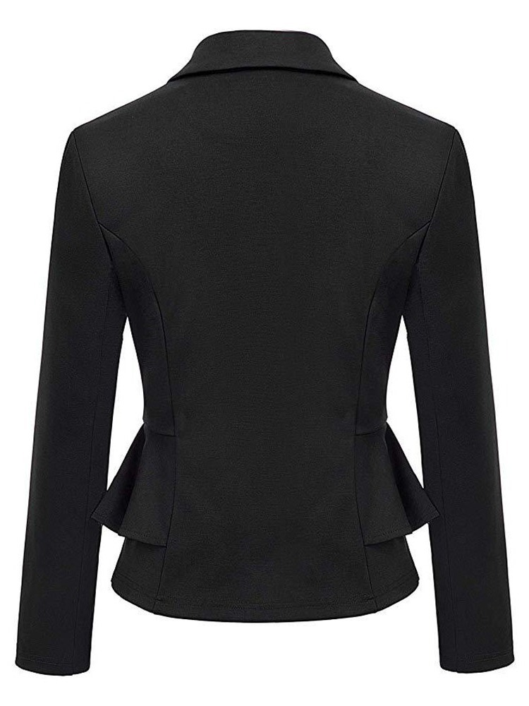 Ericdress Double-Breasted Notched Mid-Length Casual Women's Blazer