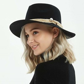 Ericdress Plain Adjustable Fedora Hat