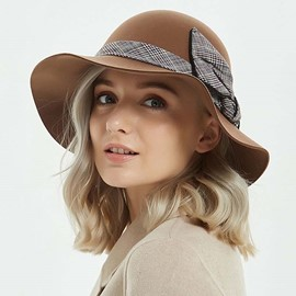 Ericdress Bowknot Wide Brim Fedora Hat